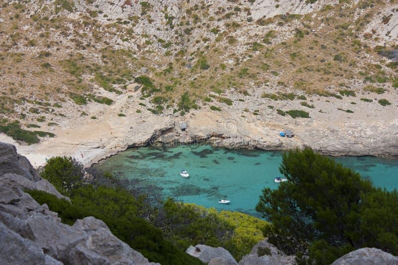 Formentor Bucht im majorca stockbilder