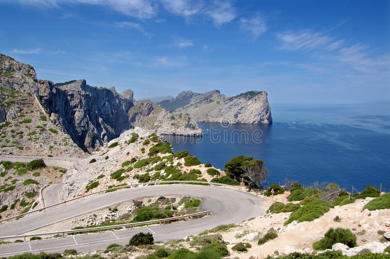 Formentor headland. From the cape viewpoint Mallorca stock photos
