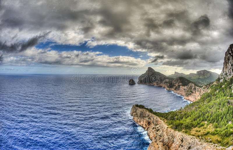 Formentor in Palma de Mallorca royalty-vrije stock afbeeldingen