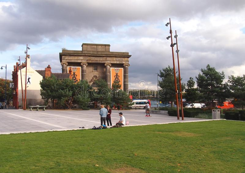 The former Curzon Street Station in Birmingham, England. The former Curzon Street Station in Birmingham will be the terminus for the planned High Speed 2 railway stock photography