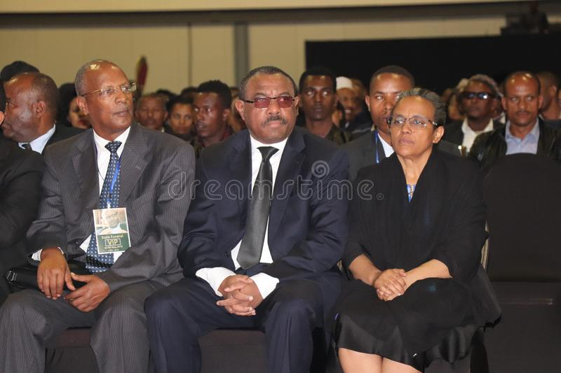 Former Ethiopian prime minister hailemariam desalegn and his wife roman tesfaye. Former ethiopian PM hailemariam desalegn his wife roman tesfaye stock photos