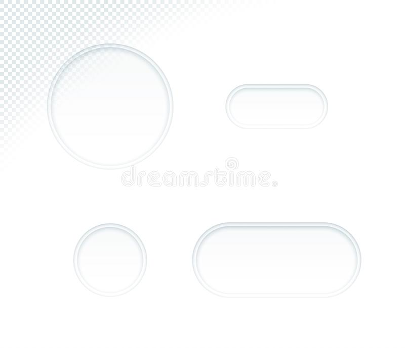 Former in för cirkel för mellanrum för vektor 3d ställde vitbok klippta ut stock illustrationer
