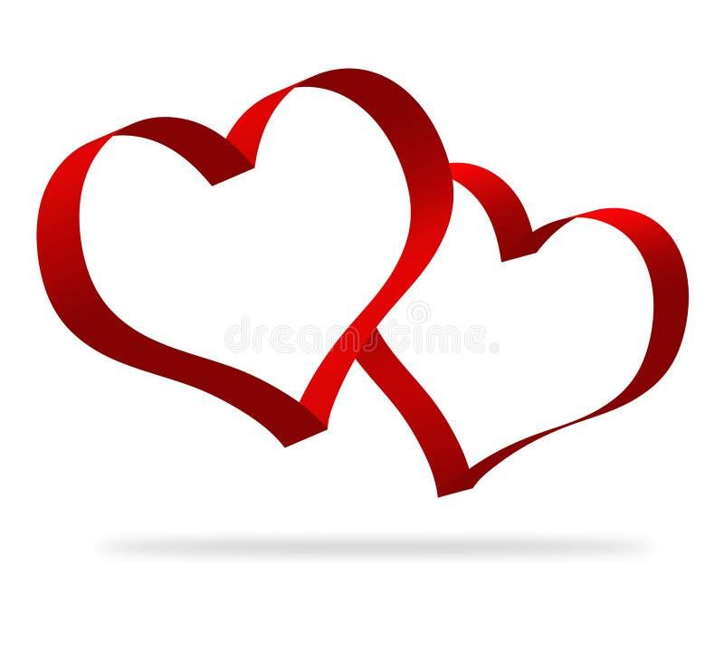 former för hjärta 3d vektor illustrationer