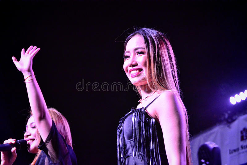Former X-Factor contestants 4th Impac. Gibraltar - 4th August 2015 - Former X-Factor contestants 4th Impact performed at the annual Gibraltar Summer Nights to a stock photos