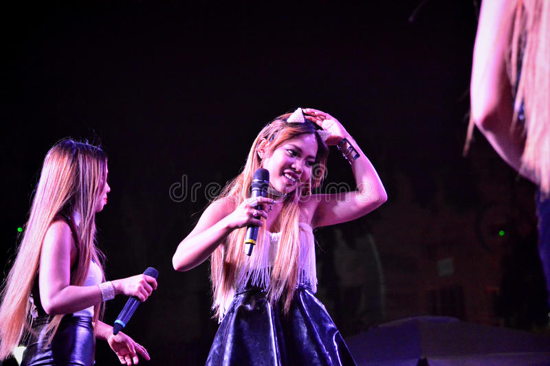 Former X-Factor contestants 4th Impac. Gibraltar - 4th August 2015 - Former X-Factor contestants 4th Impact performed at the annual Gibraltar Summer Nights to a royalty free stock photography