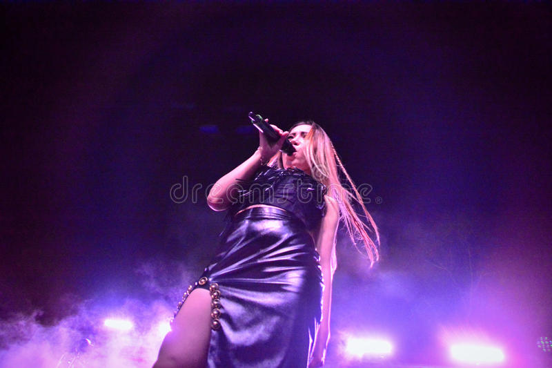 Former X-Factor contestants 4th Impact. Gibraltar - 4th August 2015 - Former X-Factor contestants 4th Impact performed at the annual Gibraltar Summer Nights to a royalty free stock photography