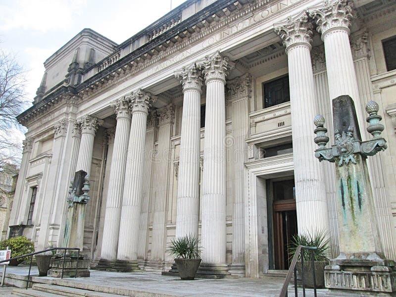 Former Glamorgan County Hall royalty free stock photos
