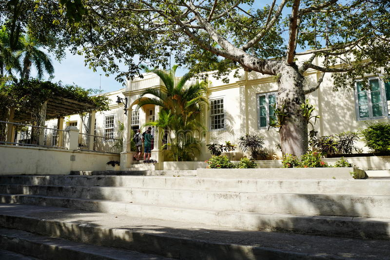 Former home of Ernest Hemingway in Cuba. Finca Vigia meaning `lookout house` located ten miles east of Havana, is Hemingway`s Cuba house, and now is preserved as stock photos