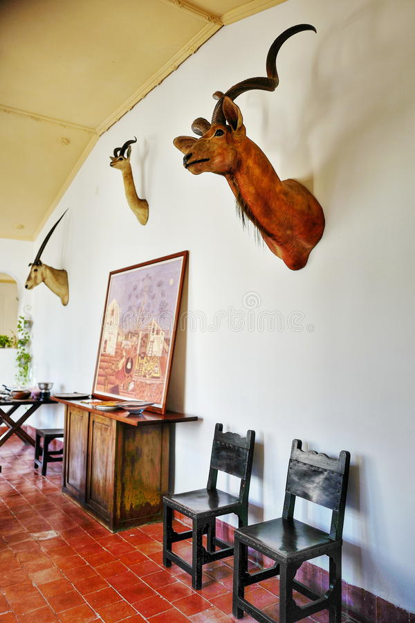 Former home of Ernest Hemingway in Cuba. Finca Vigia meaning `lookout house` located ten miles east of Havana, is Hemingway`s Cuba house, and now is preserved as stock photo