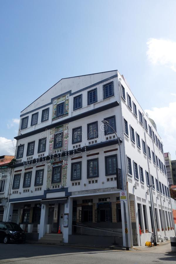 Former Hong Wen School located in Little India, Singapore stock images