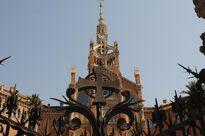 FORMER HOSPITAL SANT PAU IN BARCELONA SPAIN. Barcelona/catalonia/ Spain/ 23.July 2019/  Former Hosptial sant Pau and now great kind of museum in Barcelona royalty free stock photos