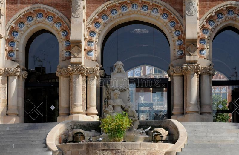 FORMER HOSPITAL SANT PAU IN BARCELONA SPAIN. Barcelona/catalonia/ Spain/ 23.July 2019/  Former Hosptial sant Pau and now great kind of museum in Barcelona stock images