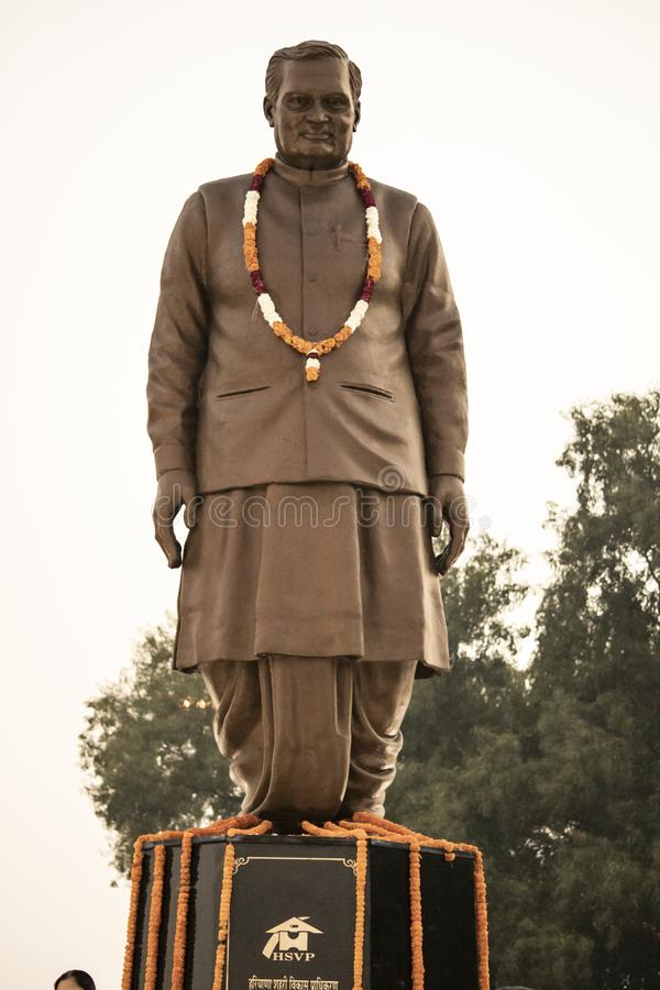 Former idol of india prime minister atal bihari vajpayee at atal park karnal stock images