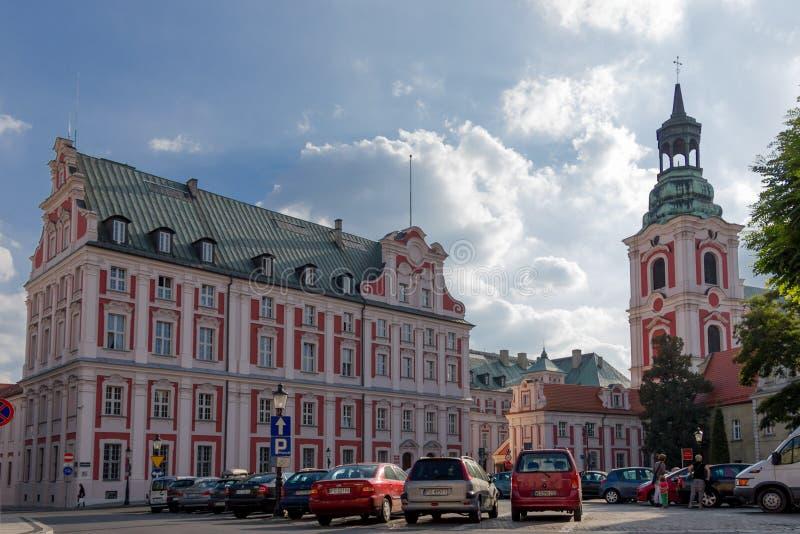 Former Jesuit College. Poznan. Poland. The Jesuit Collegiate buildings. Poznan. Poland stock image