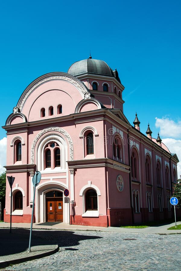 Former jewish synagogue in Liberec royalty free stock photography