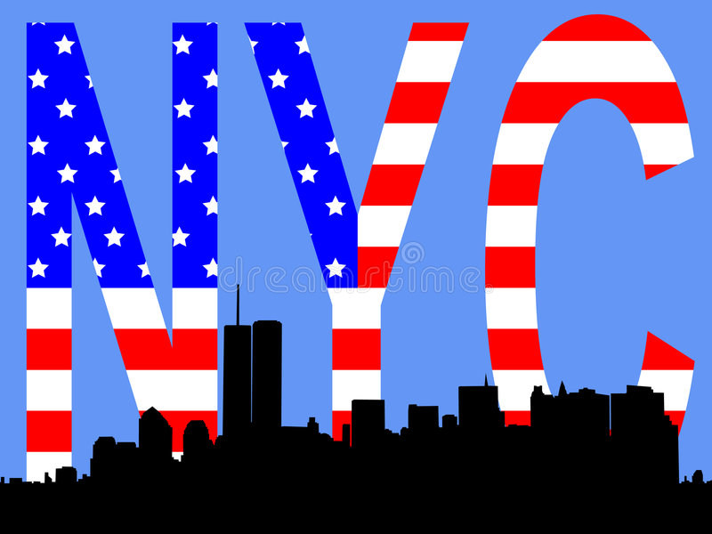 Download Former Lower Manhattan Skyline Stock Vector - Image: 2135194