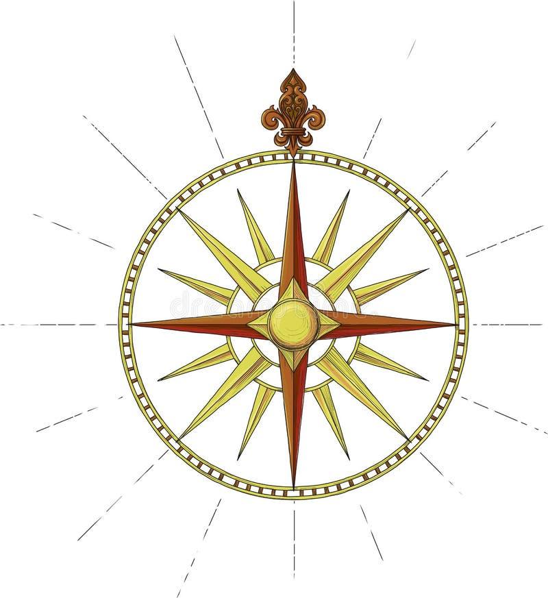 Download Former Marine Wind Rose Symbol Stock Vector - Illustration: 23806681