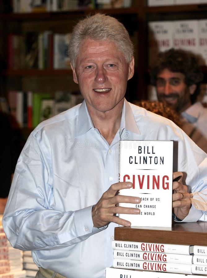 President Bill Clinton Book Signing stock image