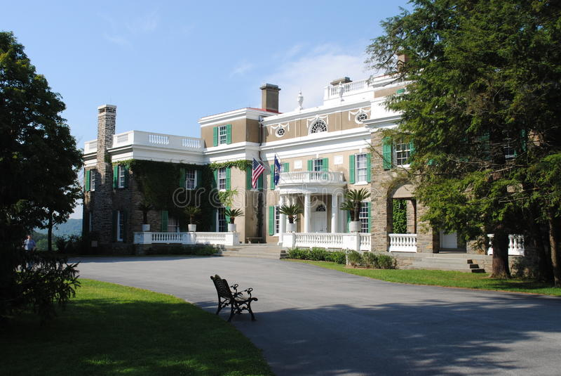 Former President Franklin Roosevelts Home. President Roosevelt Home, Hyde Park New York stock photo