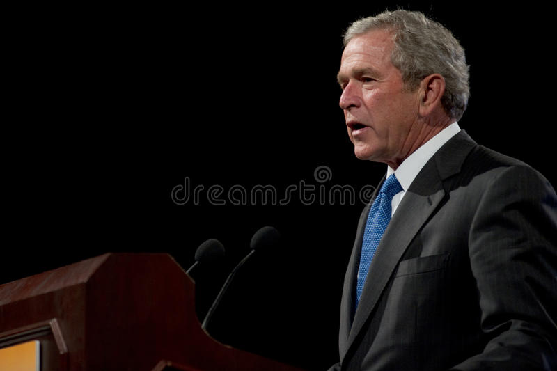 Former President George W. Bush royalty free stock photography