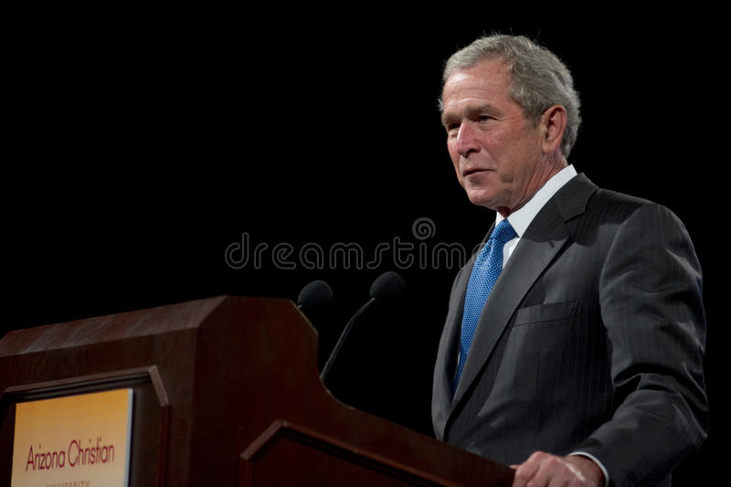 Former President George W. Bush stock photography