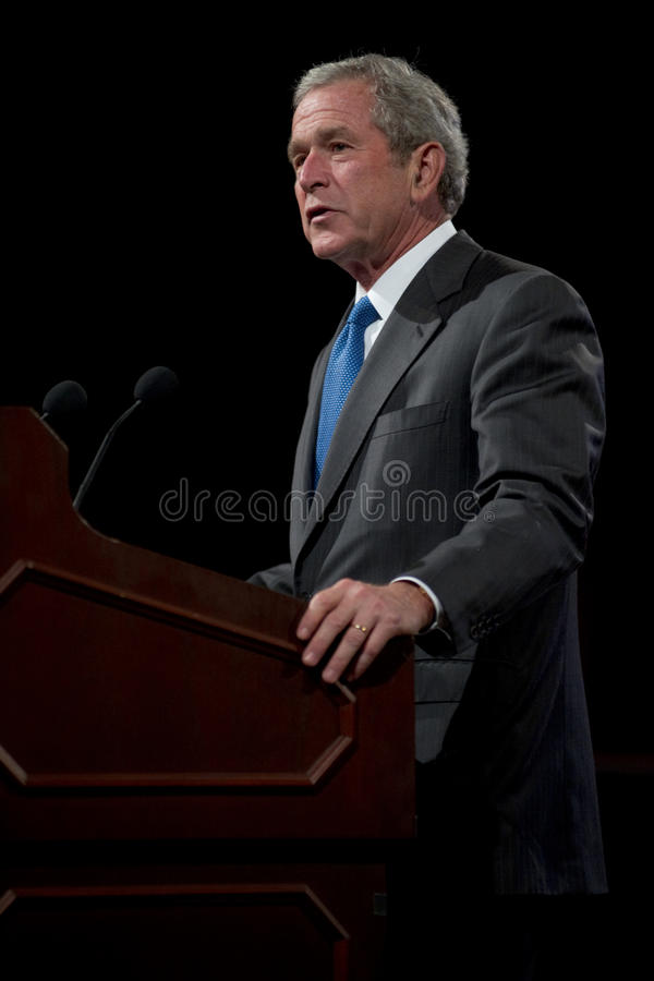Former President George W. Bush royalty free stock photos