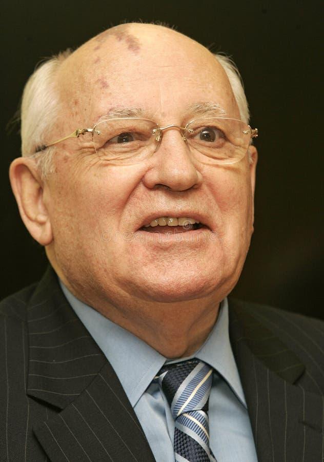 Former President of the Soviet Union Mikhail Gorbachev stock image