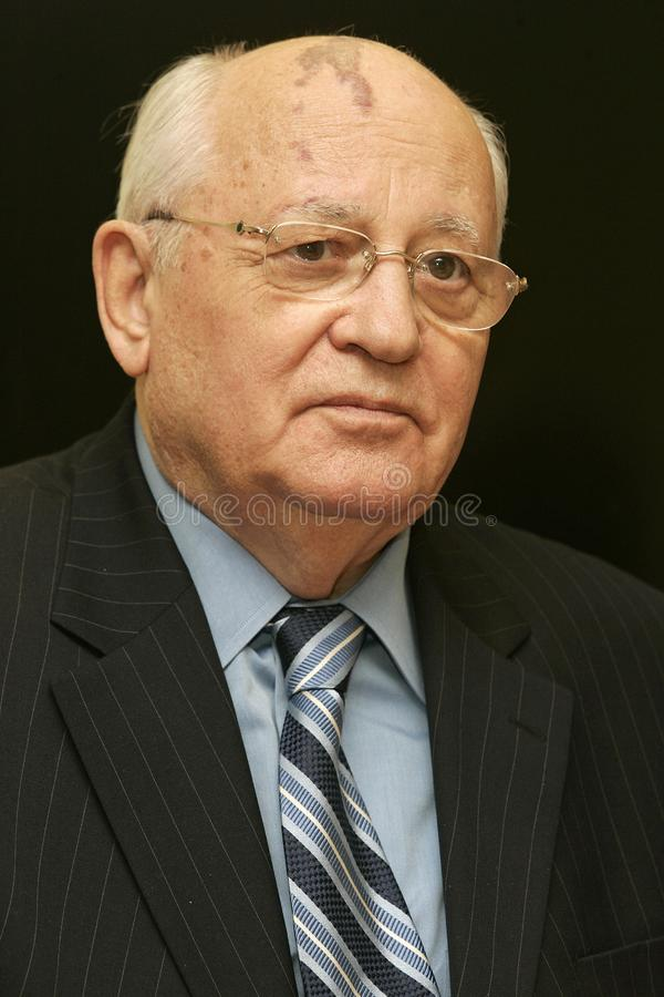 Former President of the Soviet Union Mikhail Gorbachev royalty free stock photo