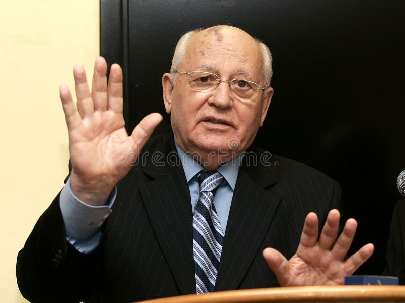 Former President of the Soviet Union Mikhail Gorbachev stock photo