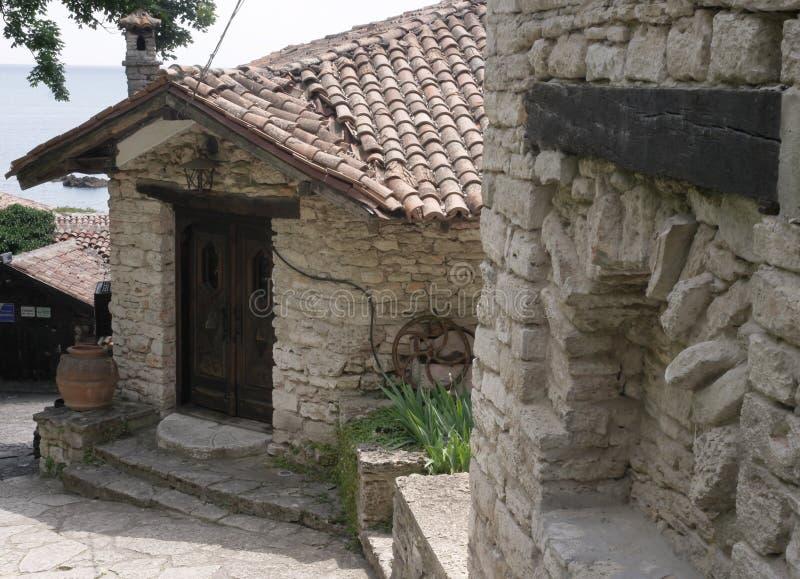 The former residence of the Romanian Queen, the Botanical garden. Balchik royalty free stock photos
