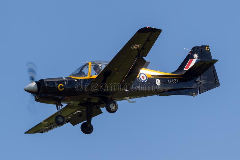 Former Royal Air Force RAF Scottish Aviation Bulldog 120 training aircraft XX573 G-CBCB. royalty free stock photo