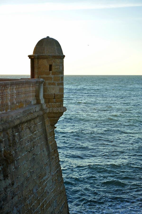 Former sentry box, Cadiz, Andalusia, Spain royalty free stock photos