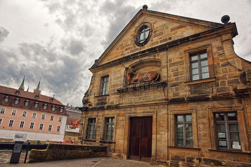 Former slaughter house in Bamberg Germany royalty free stock photography