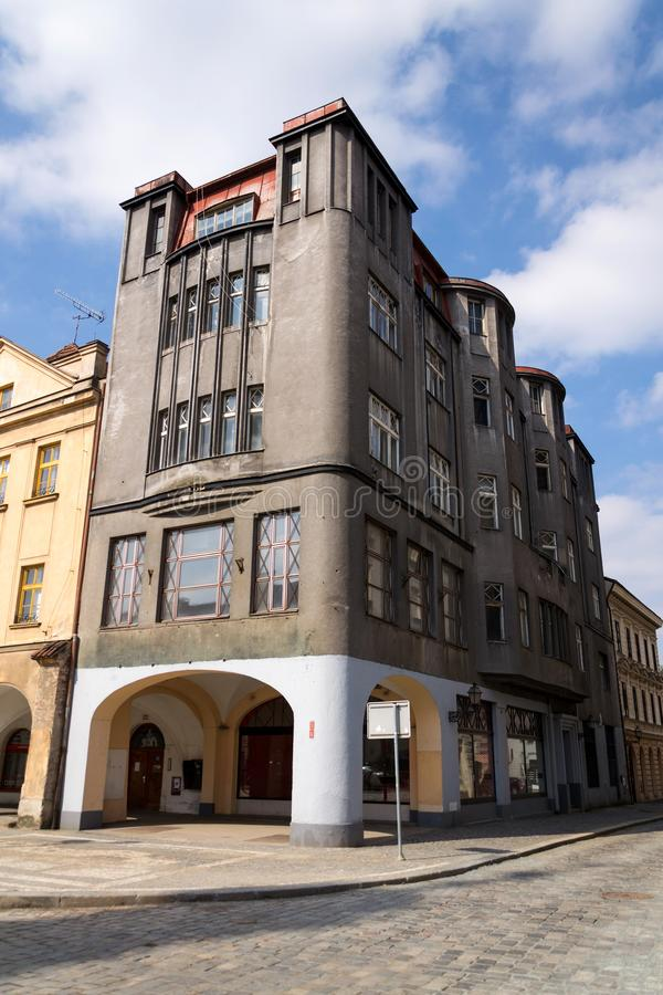 Former Spalkuv department store on the Big square built in 1911, Hradec Kralove. Czech Republic royalty free stock image
