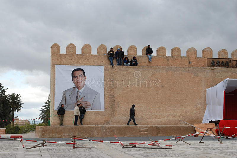 Download Former Tunisian President Ben Ali In Kairouan Editorial Stock Photo - Image: 18011428