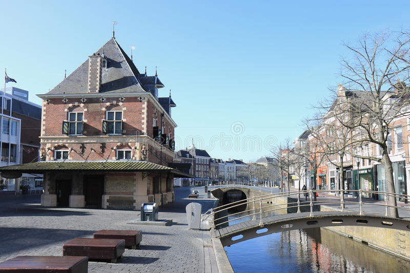 Former weigh house, Leeuwarden, Netherlands stock images