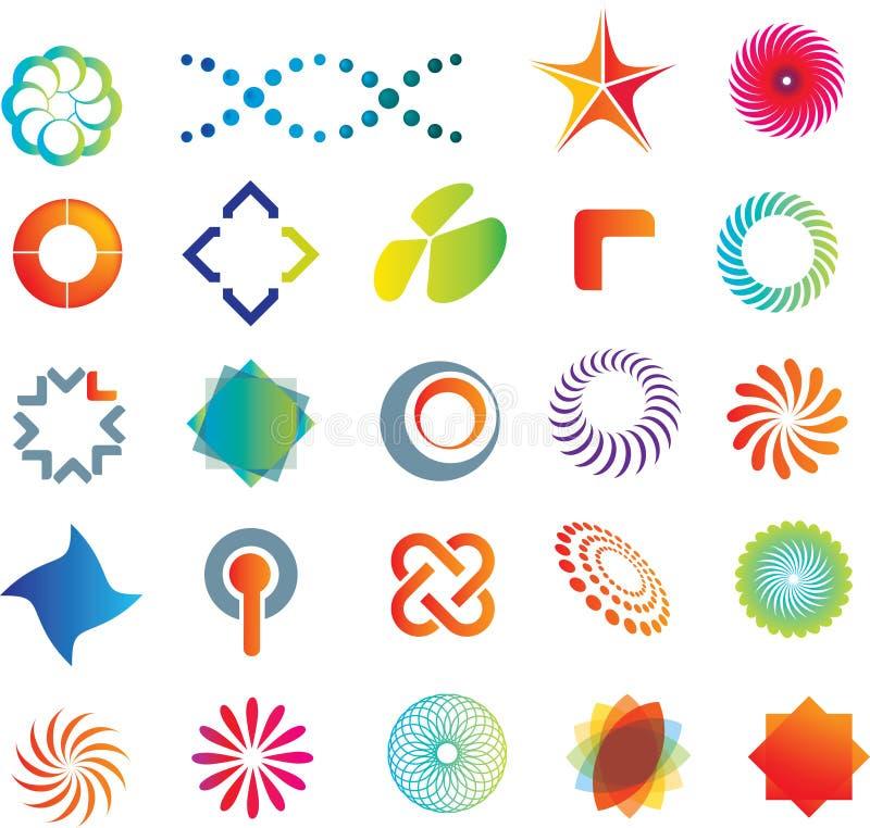 Formes abstraites de logo illustration stock