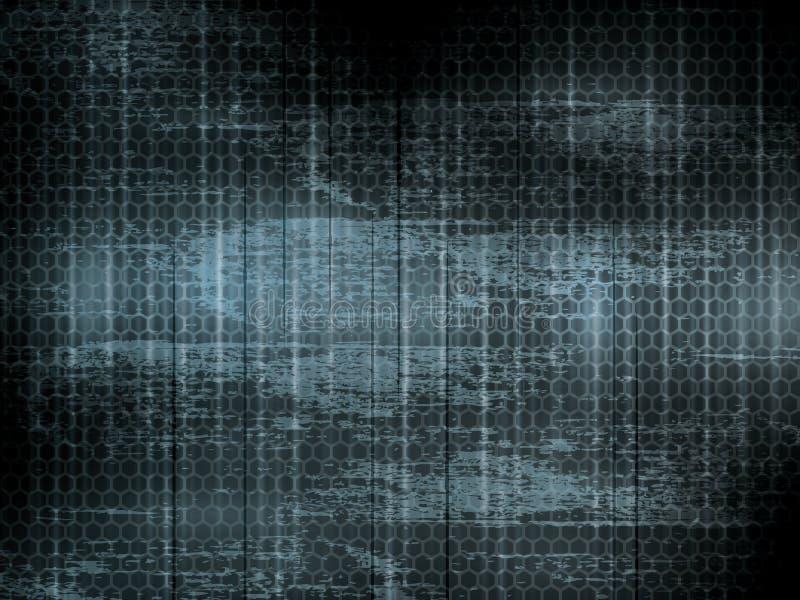 Formes abstraites foncées de grunge et d'hexagone de fond illustration de vecteur