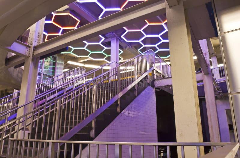 Station de la ville haute de nouvelle rue de Bleecker image stock