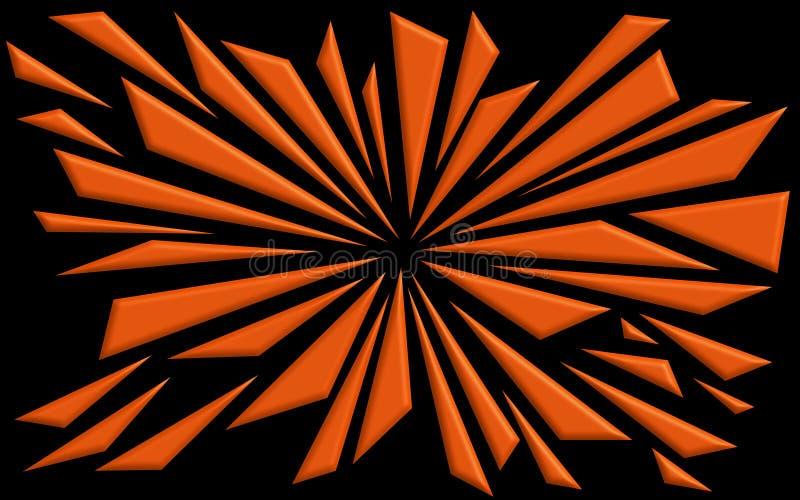 Formes brisées dans l'orange - papier peint graphique illustration libre de droits
