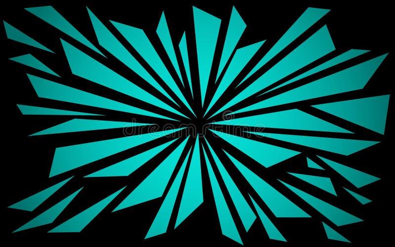 Formes brisées dans le bleu - papier peint graphique illustration stock
