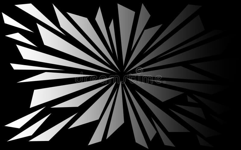 Formes brisées en noir et blanc - papier peint graphique illustration de vecteur