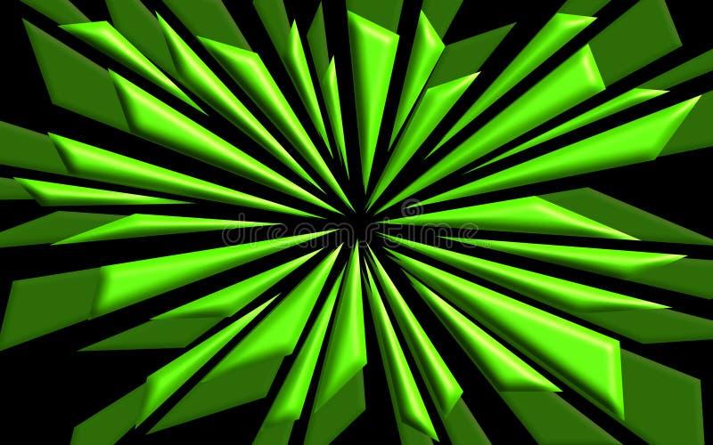 Formes brisées en vert - papier peint graphique illustration stock
