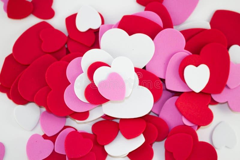 Formes colorées de coeur image libre de droits