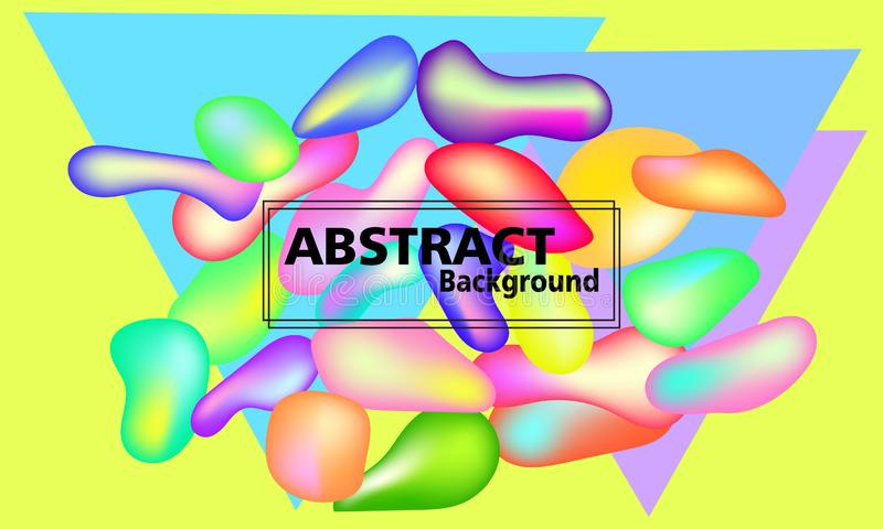 Formes color?es en plastique abr?gez le fond illustration de vecteur