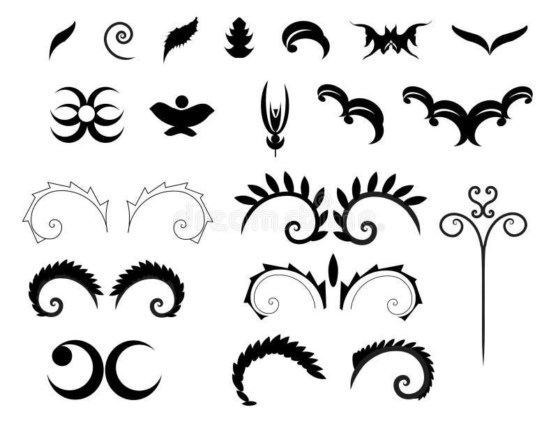 Formes décoratives victoriennes image stock