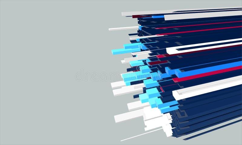 Formes d'élastique du vecteur 3d. illustration stock
