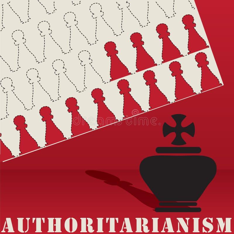 Formes d'abrégé sur affiche d'autoritarisme illustration de vecteur
