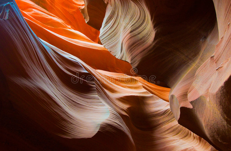 Formes d'Abstact de gorge d'antilope photographie stock libre de droits