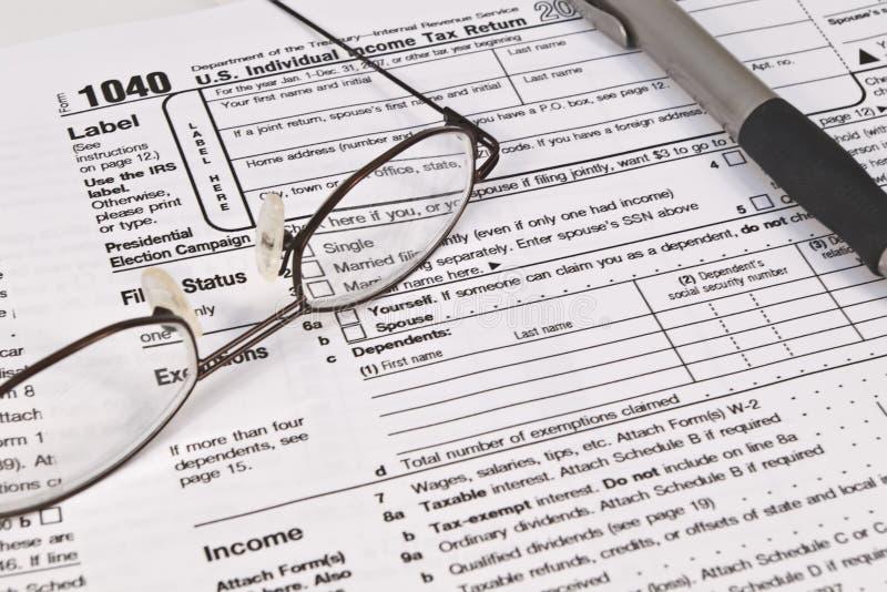 Formes d'impôt sur le revenu image libre de droits